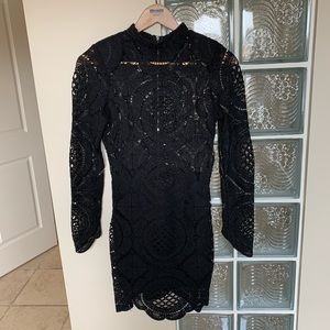 The vintage shop lace detail dress